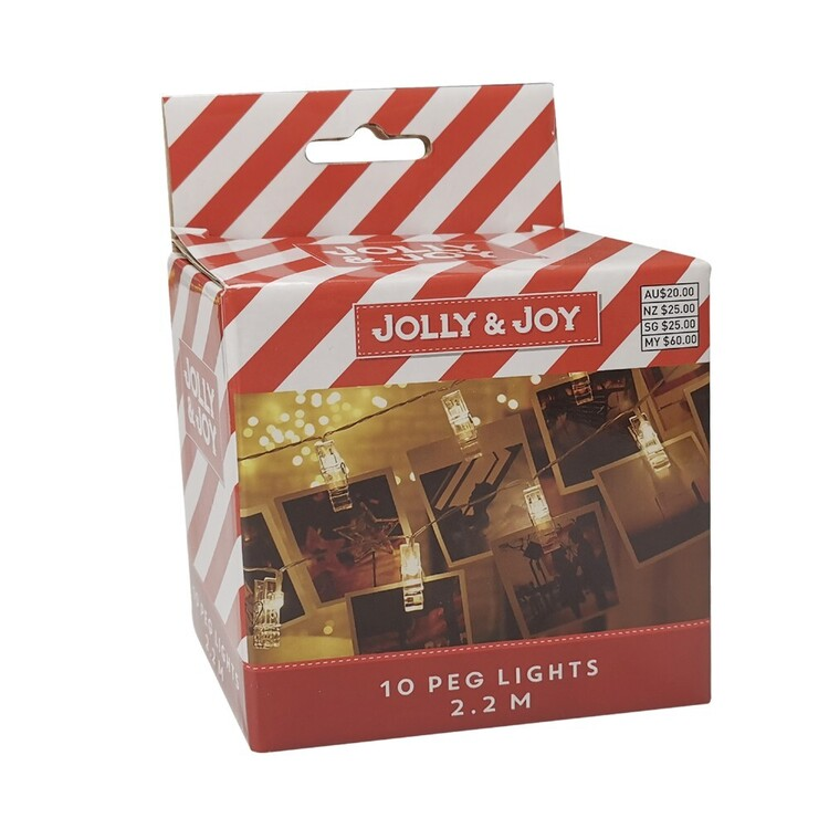 Jolly & Joy Decorate Peg Lights