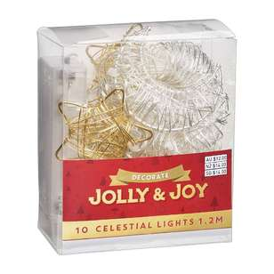 Jolly & Joy Decorate Lights Metal Moon & Stars