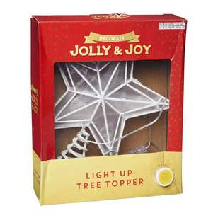 Jolly & Joy Decorate Light Up Tree Topper White Star