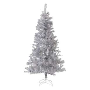 Jolly & Joy Decorate Silver Tinsel Christmas Tree