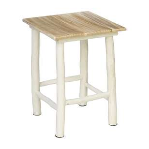 Ombre Home Boho Bloom Wooden Stool