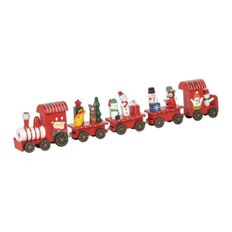 Jolly & Joy Decorate Mini Wooden Train Set