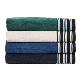 KOO Ribbed Woven Border Towel Collection