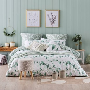 Ombre Home Beautiful Blossom Leaf Quilt Cover Set