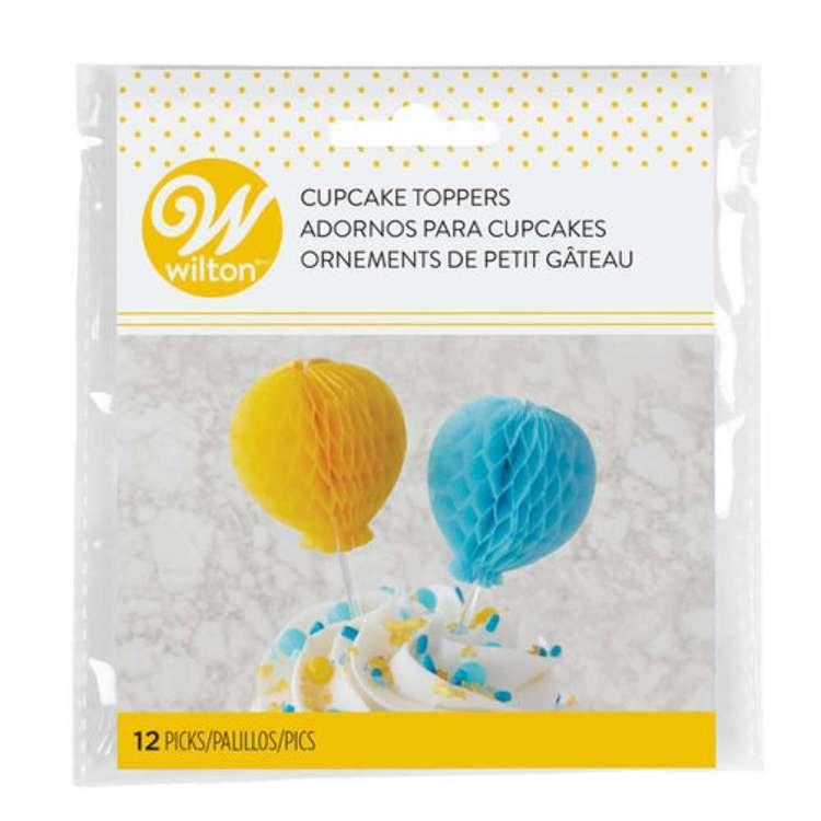 Wilton Honeycomb Balloon Picks 12 Pack