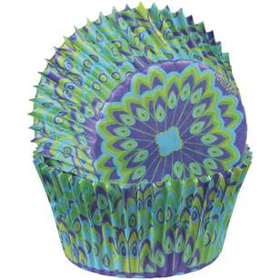 Wilton Peacock Baking Cups 75 Pack
