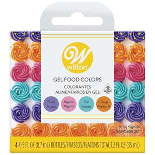 Wilton Gel Food Colour Set Primary Colours