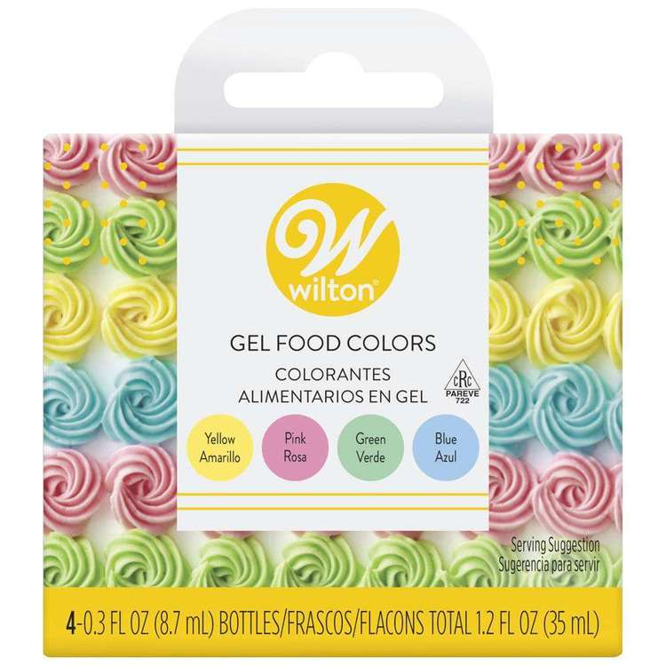 Wilton Pastel Gel Food Colour Set