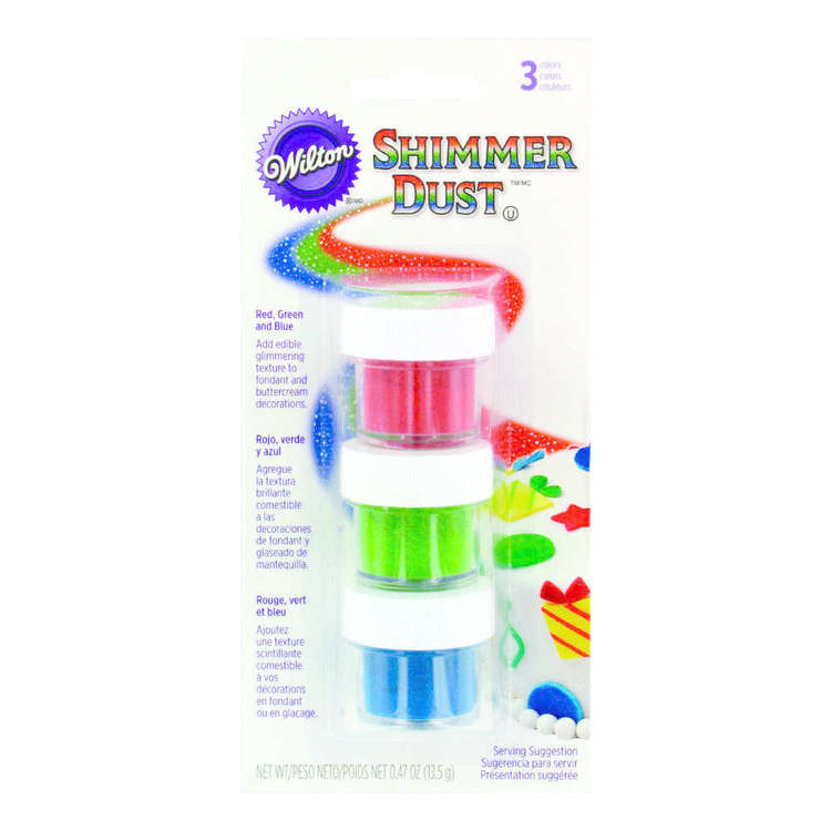 Wilton Shimmer Dust Primary Colours