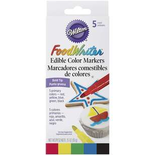 Wilton Bold Tip Edible Colour Markers 5 Pack
