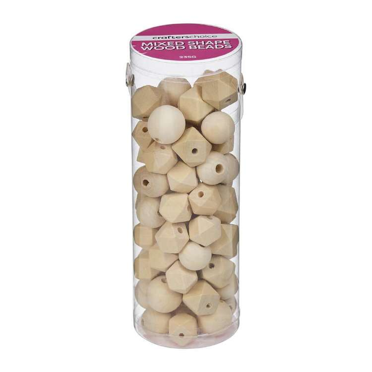 Crafters Choice Mixed Shape Wood Beads In Tube