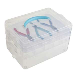 Crafters Choice Bead Storage Box With 3 Pliers