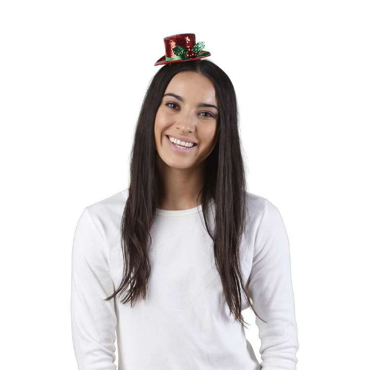 Jolly & Joy Celebrate Sequin Mini Clip Hat