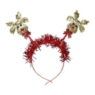 Jolly & Joy Celebrate Reindeer with Tinsel Head Bopper
