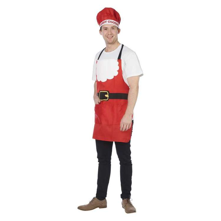 Jolly & Joy Celebrate Santa Apron Set with Hat