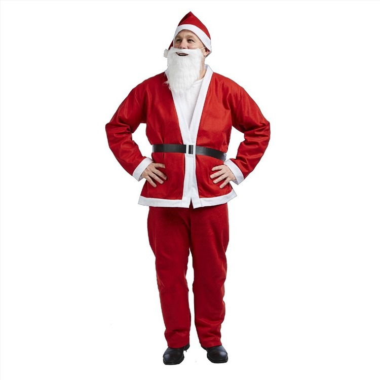 Jolly & Joy Celebrate Felt Adult Santa Suit