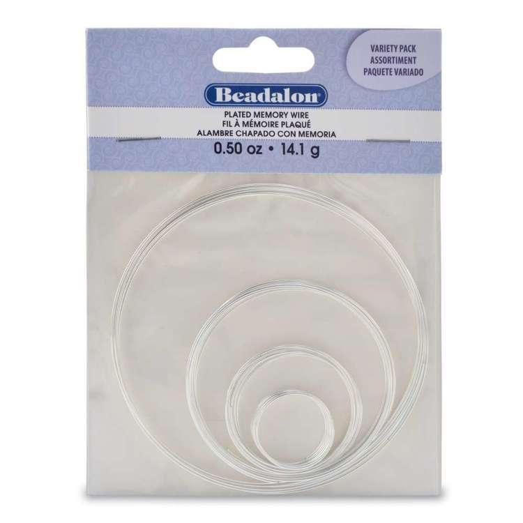Beadalon Round Memory Wire Variety 4 Pack