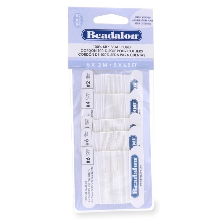 Beadalon Silk 2 m Thread Variety 5 Pack