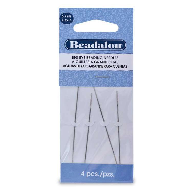 Beadalon Big Eye Bead Needles 4 Pack