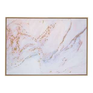 Cooper & Co Framed Marble With Gold Canvas Art
