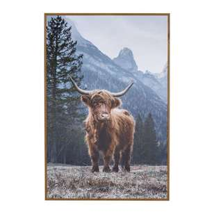 Cooper & Co Highland Cow Framed Art
