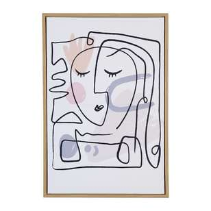 Cooper & Co Framed Abstract Face Canvas Art