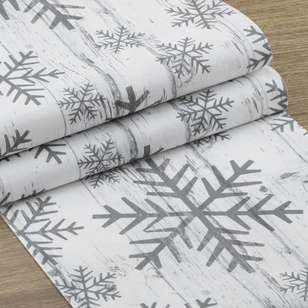 Bouclair Frozen Memories Snowflake Table Runner
