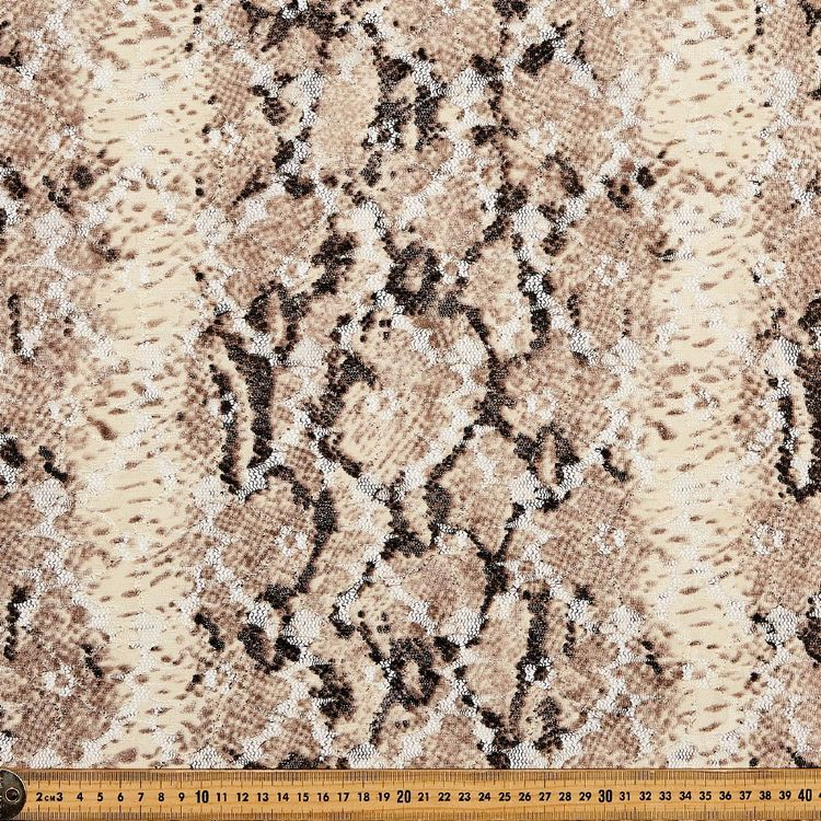 Leopard Printed Lace Fabric
