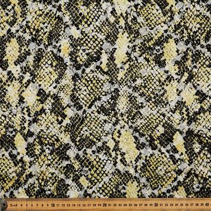 Snake Printed Lace Fabric