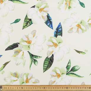 Floral Printed Stretch Crepe Fabric