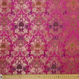 Floral Paisley Printed Oriental Brocade Fabric