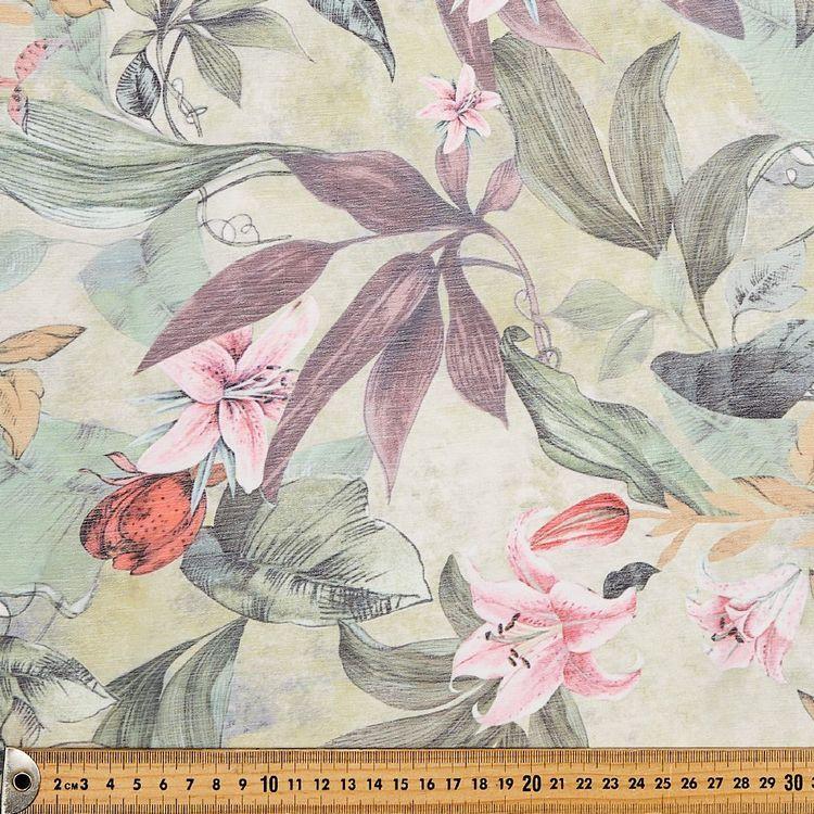 Lily Printed Chiffon Yoryu Fabric