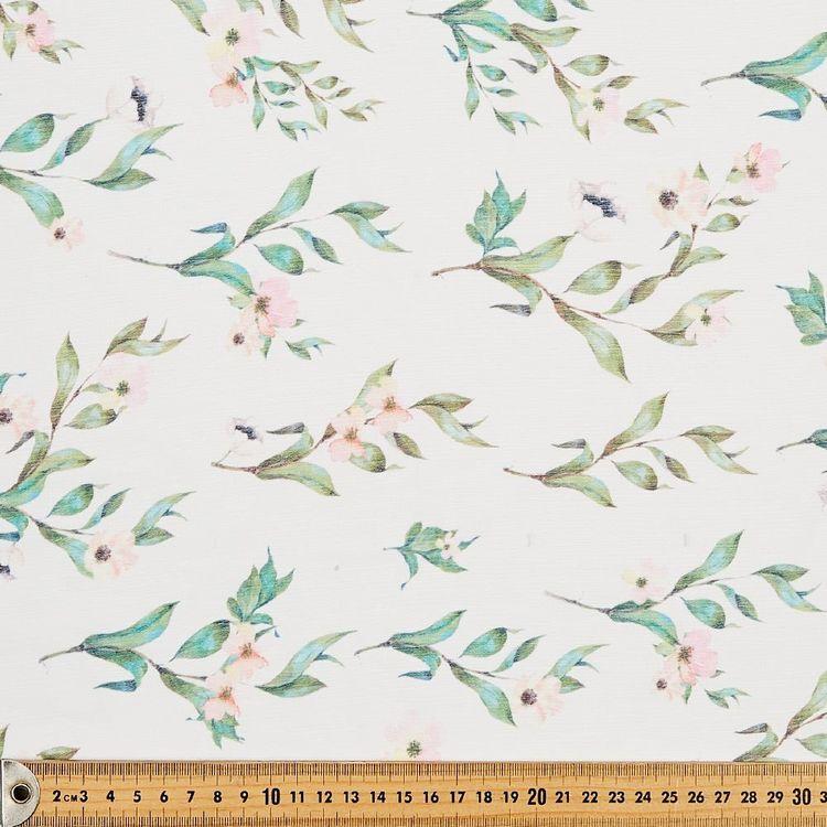 Flowers Printed Chiffon Yoryu Fabric