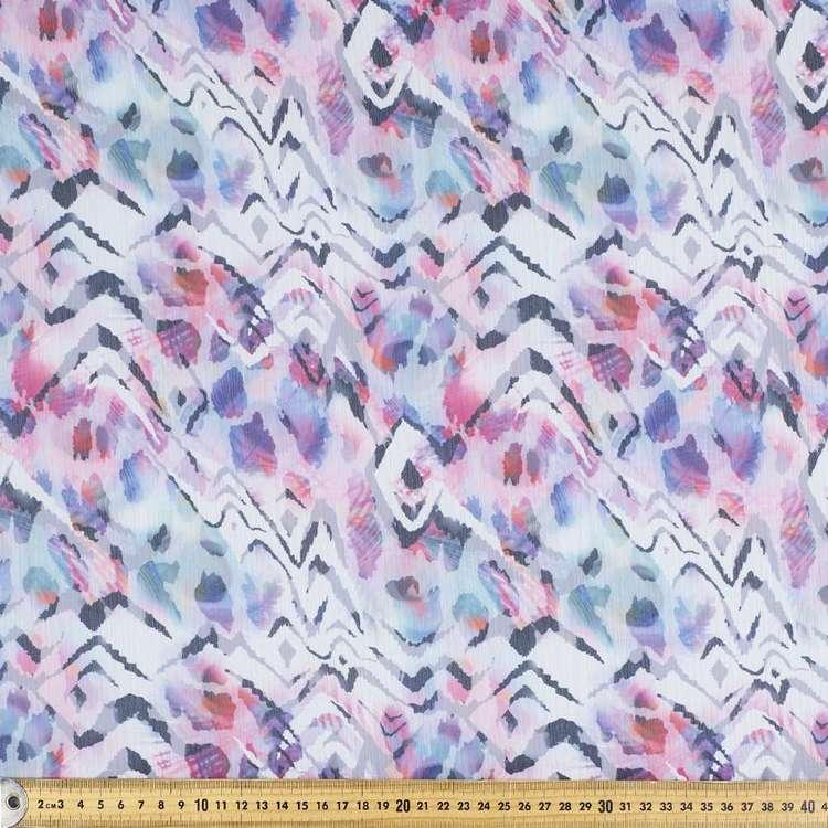 Cheetah Printed Yoryu Chiffon Fabric