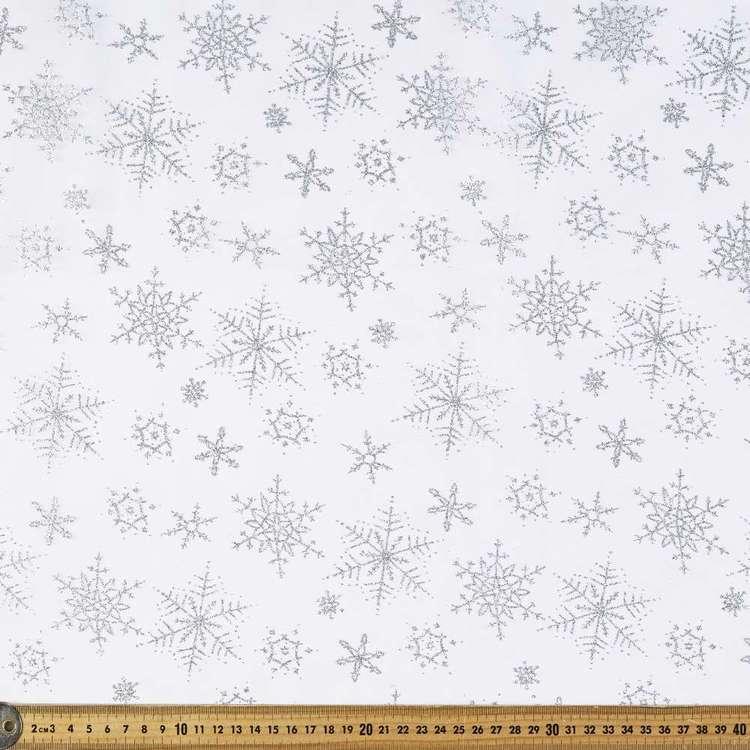 Frozen Snowflake Organza Fabric
