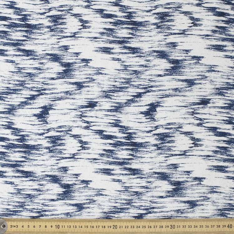 Abstract Printed Cotton Spandex Fabric