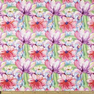 Large Blooms Printed Cotton Poplin Fabric