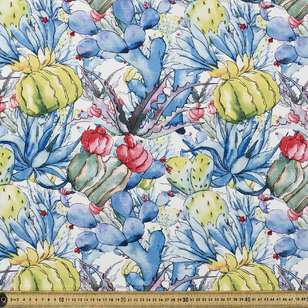Mexican Garden Printed Cotton Poplin Fabric