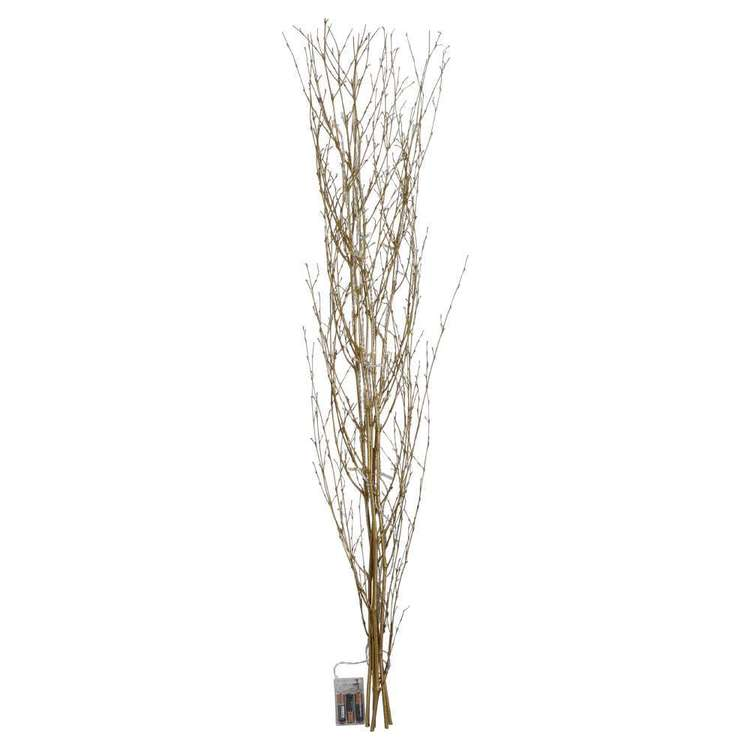 Emporium Bamboo LED Tree Gold 1 m