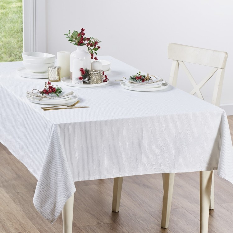 Living Space Festive Nickolas Printed Tablecloth