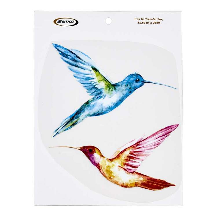 Semco Watercolour Iron On Transfer Hummingbirds