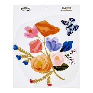 Semco Watercolour Iron On Transfer Bouquet With Butterfly