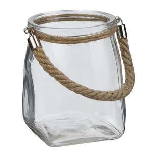 Living Space Summer Life Glass Vase With Rope Handle