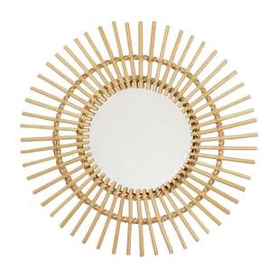 Living Space Summer Life Rattan Circle Mirror