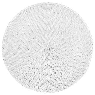 Bouclair Frozen Memories Round Lurex Placemat