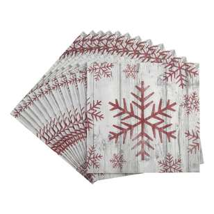 Bouclair Scandi Legend 20 Pack Snowflake Napkins