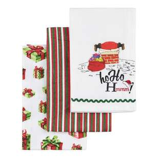 Living Space Festive Ho Ho Hmm Tea Towel 3 Pack