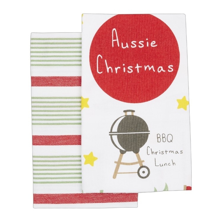 Christmas By Ladelle Icons Tea Towel 2 Pack