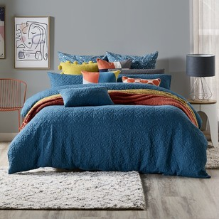 Living Space Lenox Jersey Quilted Quilt Cover Set