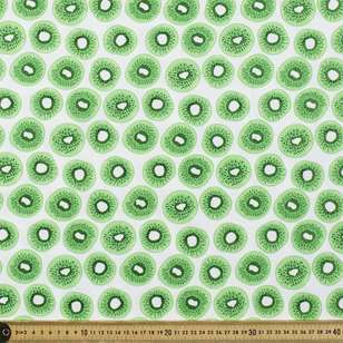 Glitter Kiwi Printed Cotton Poplin Fabric